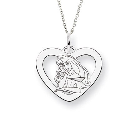 Sterling Silver Sleeping Beauty Aurora Pendant