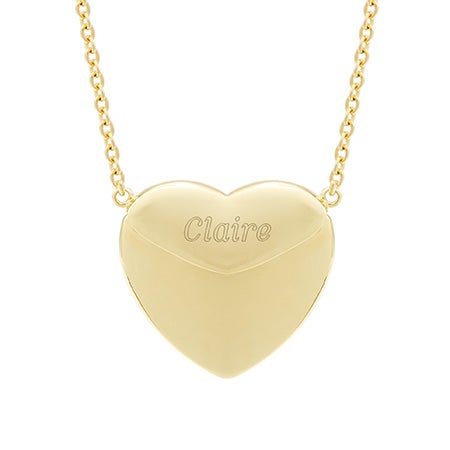 Gold Vermeil Engravable Secret Message Heart Locket