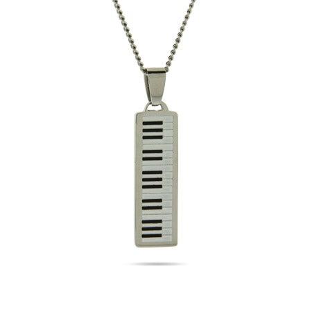 Engravable Piano Keyboard Pendant