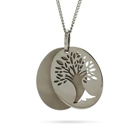 Engravable Tree of Life Tag Pendant