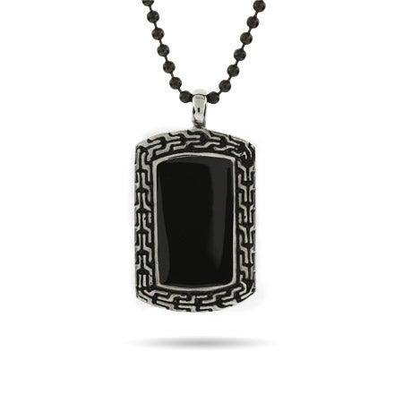 Designer Inspired Engravable Onyx Dog Tag | Eve's Addiction®
