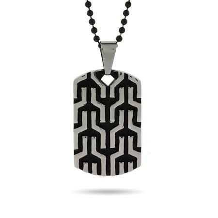 Engravable Designer Inspired Tribal Design Dog Tag