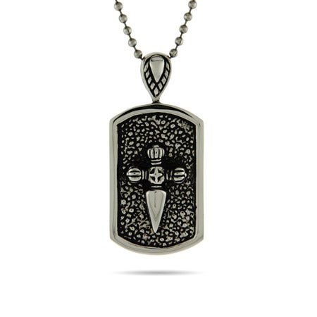 Engravable Medieval Cross Dog Tag | Eve's Addiction