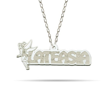 Sterling Silver Tinkerbell Nameplate Necklace