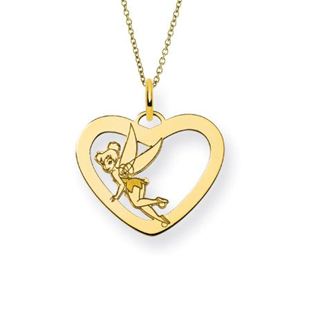 Gold Plated Tinkerbell Necklace