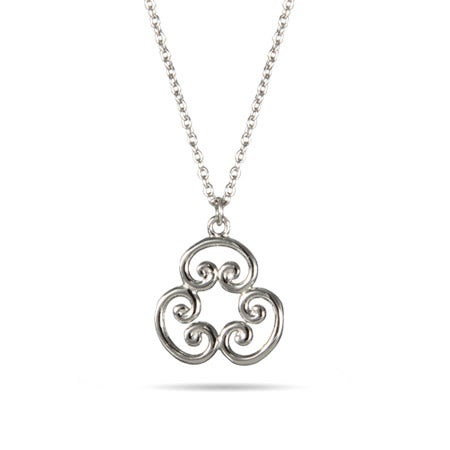 Scroll Sterling Silver Pendant | Eve's Addiction®
