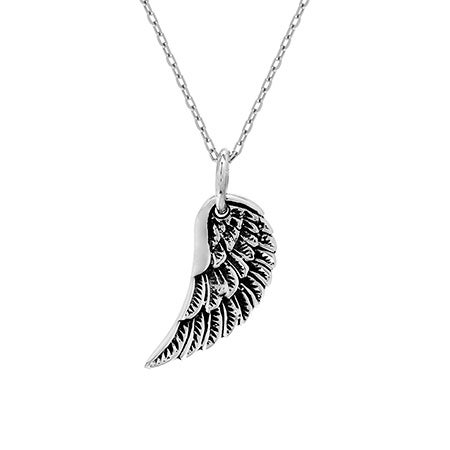 Petite Sterling Silver Wing Pendant | Eve's Addiction®