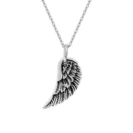 Petite Sterling Silver Wing Pendant