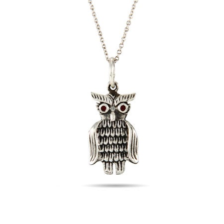 Sterling Silver Owl Pendant | Eve's Addiction