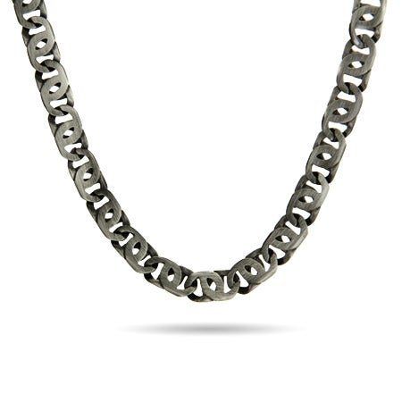 Marina Link Necklace In Brushed Finish in Stainless Steel