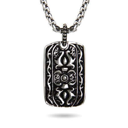 Stainless Steel Engravable Tribal Dog Tag