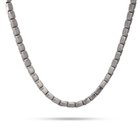 Zig Zag Box Link Chain in Stainless Steel