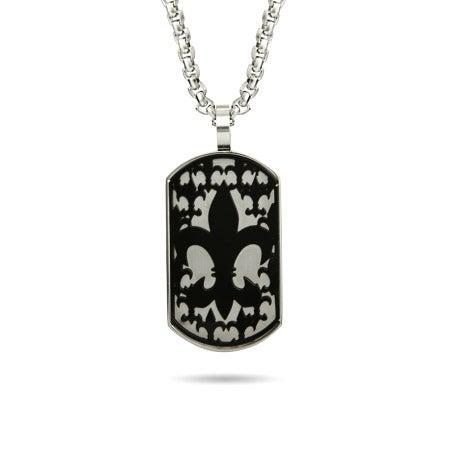 Fleur de Lis Black Silhouette Dog Tag | Eve's Addiction®
