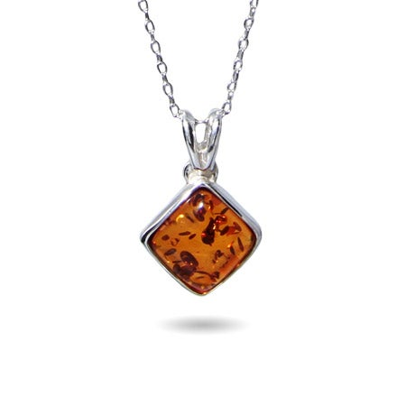 Baltic Amber Cushion Cut Pendant | Eve's Addiction®