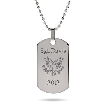 Engravable Custom Military Dog Tag | Eve's Addiction®