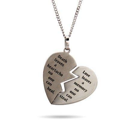 Engravable Broken Heart Bereavement Pendant