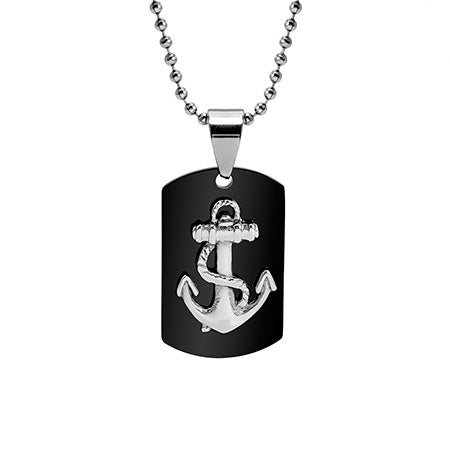 Engravable Nautical Anchor Dog Tag | Eve's Addiction®