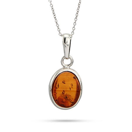 Oval Cut Baltic Amber Pendant | Eve's Addiction