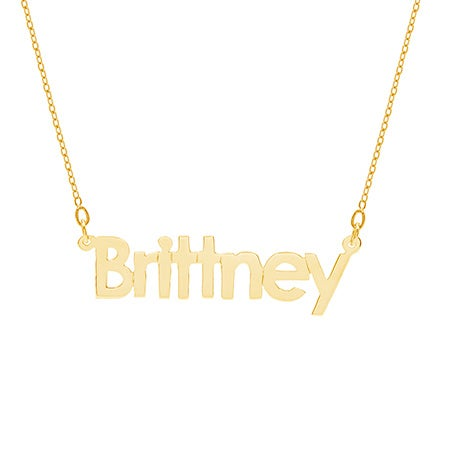Gold Dipped Name Necklace | Eve's Addiction®