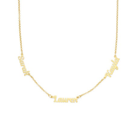 Gold Vermeil Custom 3 Name Necklace