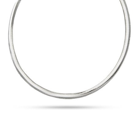 6mm Sterling Silver Omega Necklace