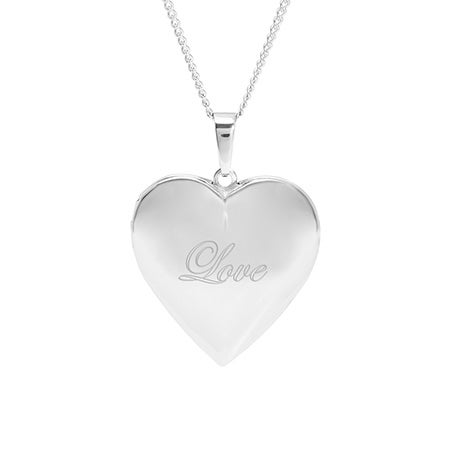 Engravable Polished Heart Photo Locket | Eve's Addiction®