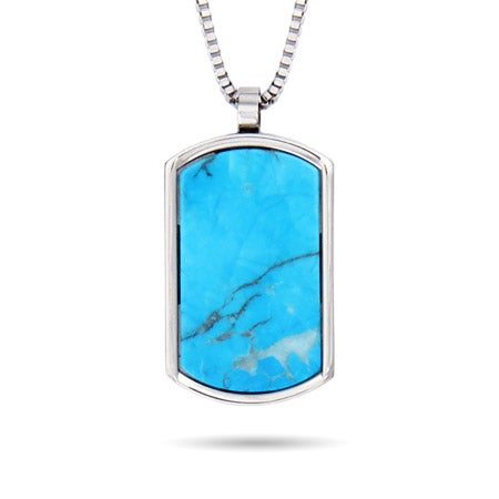 Engravable Turquoise Dog Tag | Eve's Addiction®