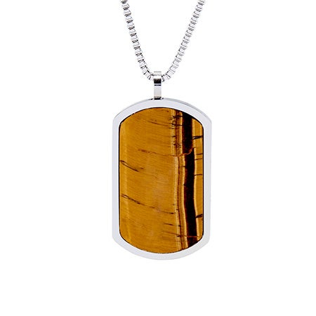 Engravable Tigers Eye Dog Tag | Eve's Addiction®