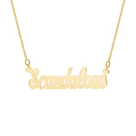Scandalous Nameplate Necklace