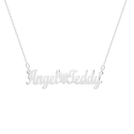 Personalized Sterling Silver Couples Name Necklace