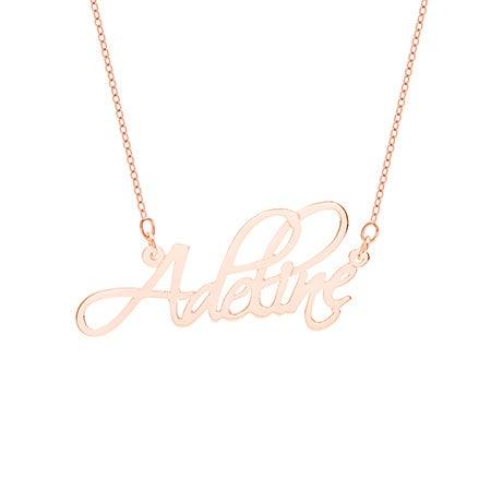 Fancy Script Rose Gold Vermeil Custom Name Necklace