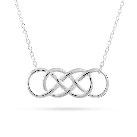 Silver Double Infinity Symbol Necklace