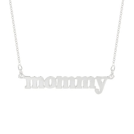 Sterling Silver Mommy Necklace | Eve's Addiction
