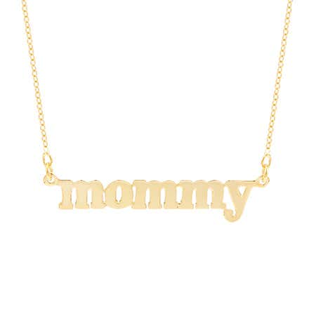 Mommy Necklace in Gold Vermeil | Eve's Addiction