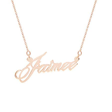 Custom Script Name Necklace in Rose Gold