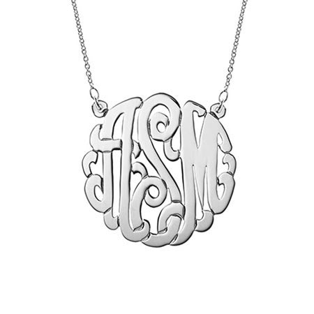 Sterling Silver Monogram Necklace | Eve's Addiction