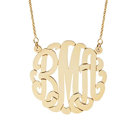 Gold Vermeil Monogram Necklace | Eve's Addiction®