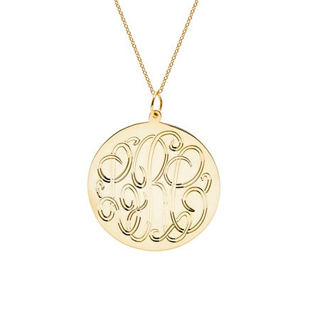 Gold Vermeil Monogram Tag Pendant | Eve's Addiction
