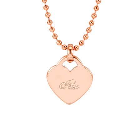 Rose Gold Engravable Heart Pendant