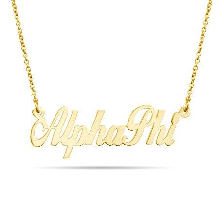 Alpha Phi Gold Vermeil Sorority Necklace
