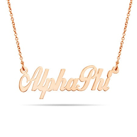 Alpha Phi Rose Gold Vermeil Necklace