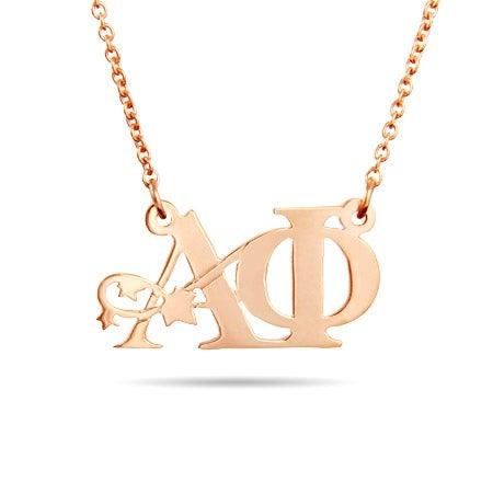 Rose Gold Vermeil Alpha Phi Ivy Necklace