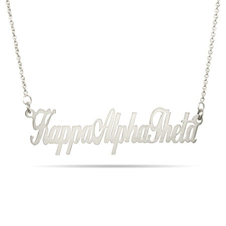 Kappa Alpha Theta Sterling Silver Necklace