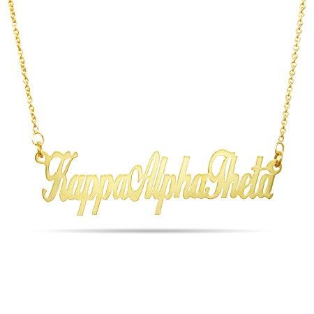 Kappa Alpha Theta Gold Vermeil Necklace