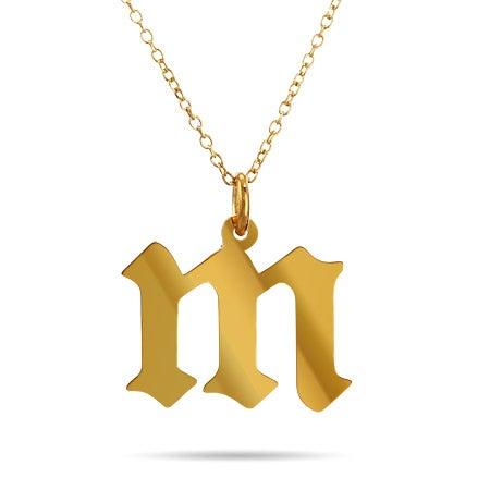 Gold Vermeil Gothic Initial Pendant
