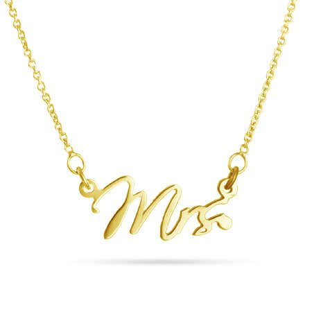 Mrs. Gold Vermeil Necklace
