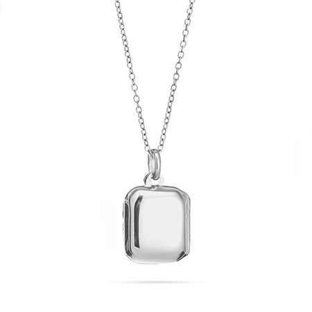 Sterling Silver Engravable Rectangle Locket