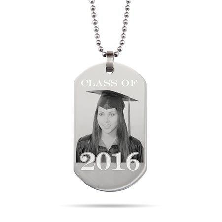 Graduation Photo Dog Tag Necklace