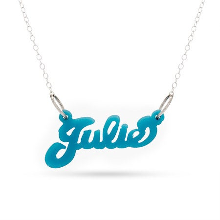 Turquoise Acrylic Name Necklace | Eve's Addiction®