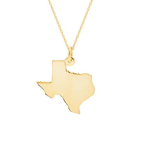 Gold Vermeil State Necklace
